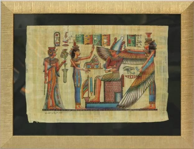 Багетное оформление папирусов